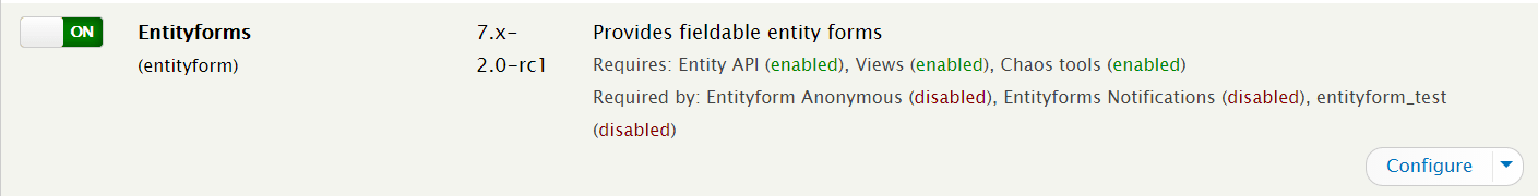 Download and Install Entityform Module for Drupal